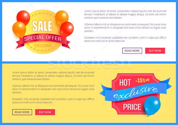 Sprzedaży ekskluzywny oferta specjalna promo balony Zdjęcia stock © robuart