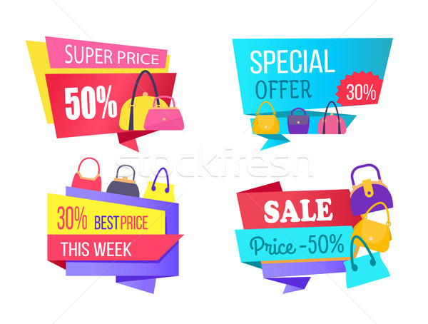 Super Price Special Offer Best Cost Week Sale Set Stock photo © robuart
