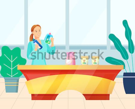 Little Girl Play in Sandbox Putting Sand by Shovel Stock photo © robuart