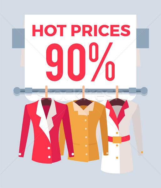 Hot Prices 90 Sale Special Offer Label Discount Stock photo © robuart