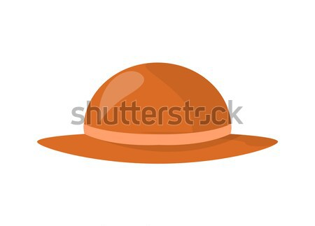 Stylish Female Summer Hat of Smooth Brown Fabric Stock photo © robuart