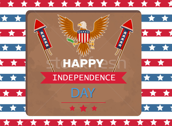 Happy Independence Day Eagle Vector Illustration Stock photo © robuart