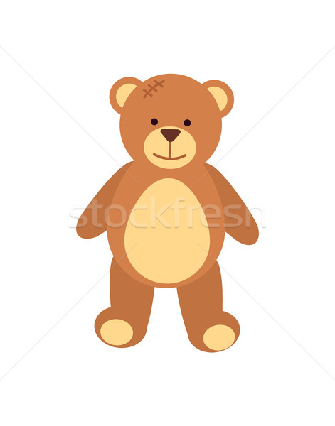 Teddy Bear Fluffy Toy Poster Vector Illustration Stock photo © robuart