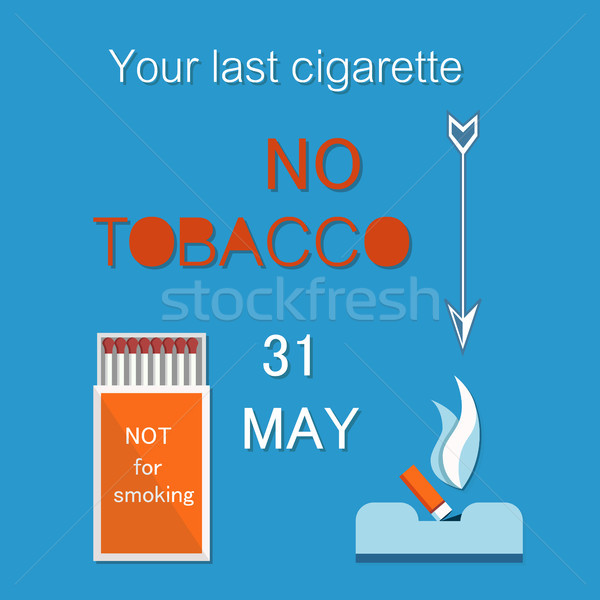 Your Last Cigarette Ash Tray Vector No Tobacco Day Stock photo © robuart