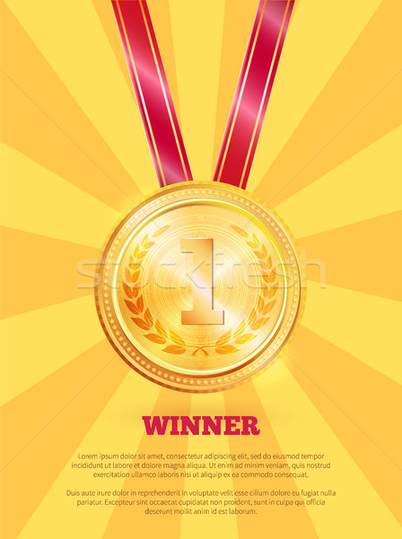 Winner Poster and Text Sample Vector Illustration Stock photo © robuart