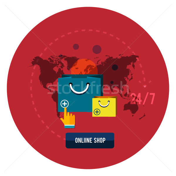 Einzelhandel Commerce Marketing Elemente Symbole Stock foto © robuart