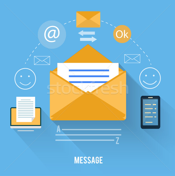Envelope with message and email technology Stock photo © robuart