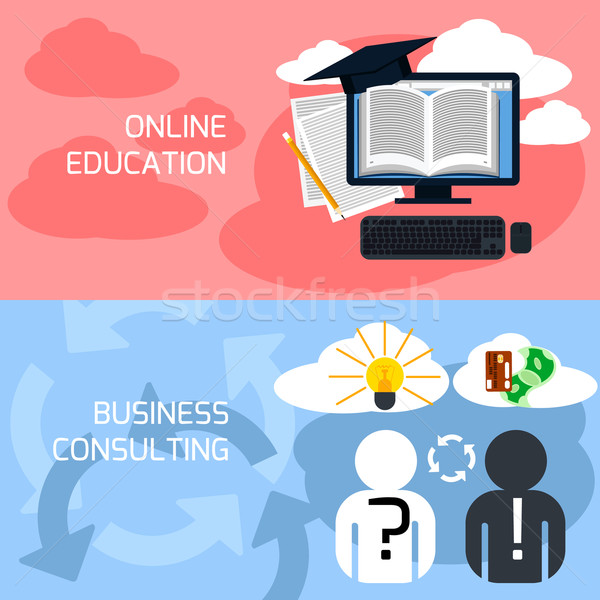 Concept of online education, business consulting Stock photo © robuart