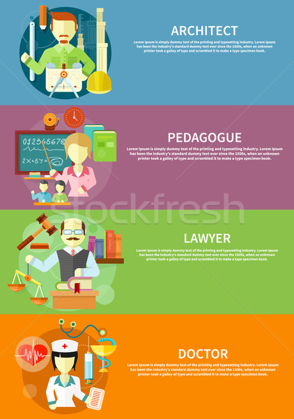Architect, lawyer, doctor and pedagogue Stock photo © robuart