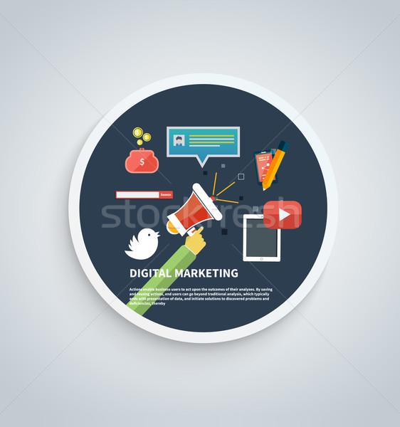 Icons for Digital Marketing Stock photo © robuart