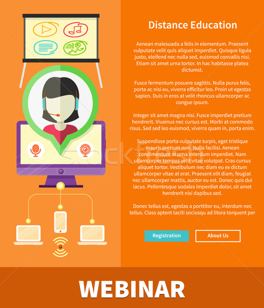 Webinare, Distance Education and Learning Concept Stock photo © robuart
