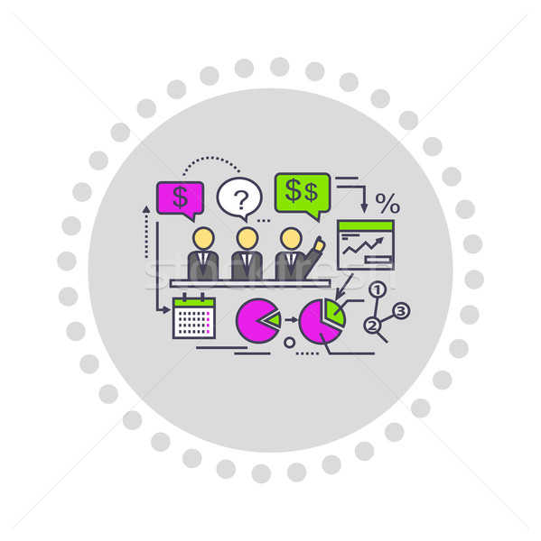 Icon stijl ontwerp prestaties analyse business Stockfoto © robuart