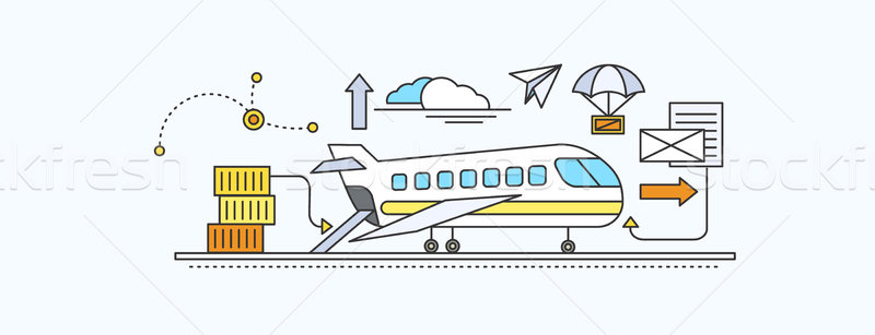 Stock photo: Concept of Freight Forwarding by Air