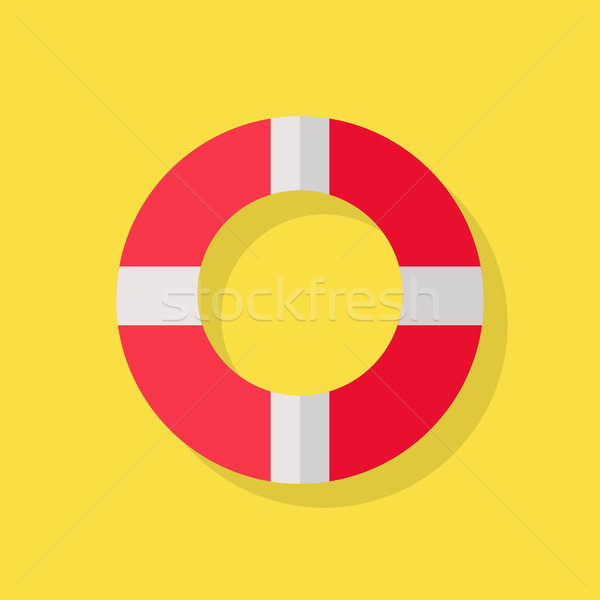 Icon Geel Rood witte reddingslijn strand Stockfoto © robuart