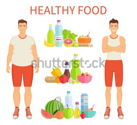 Healthy and Unhealthy Food. Weight Loss. Stock photo © robuart