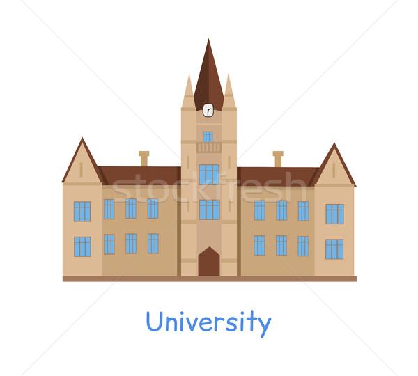 University Building Isolated on White Stock photo © robuart