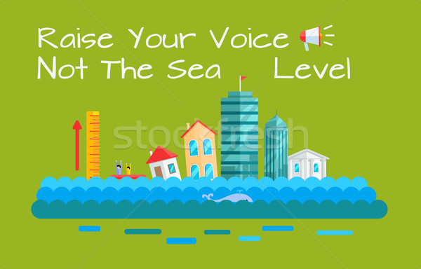 Warming and Sea Level Increase Vector Concept.   Stock photo © robuart