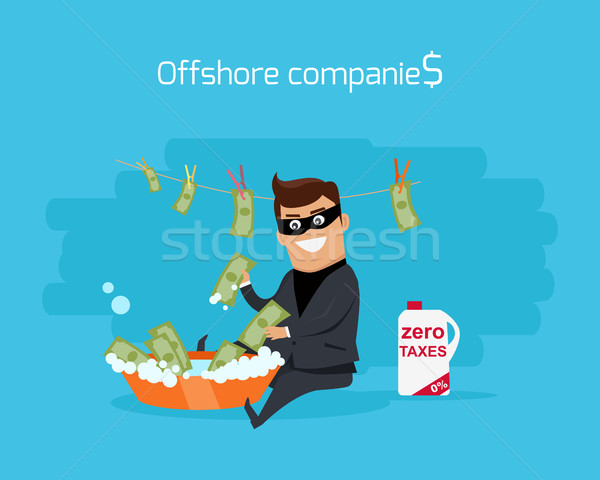 Offshore Companies Concept Flat Design Vector Stock photo © robuart