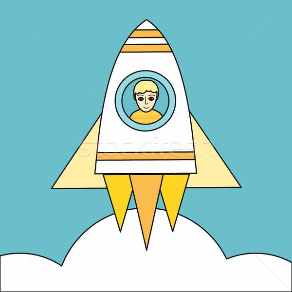 Ruimte raket vector ontwerp stijl Stockfoto © robuart