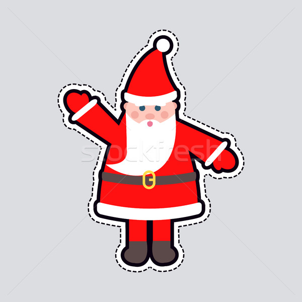 Papai noel vermelho roupa mão brinquedo Foto stock © robuart
