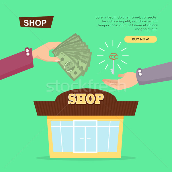 Buying Shop Online. Property Selling. Web Banner. Stock photo © robuart