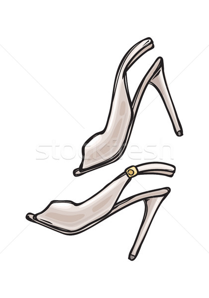 Women s Shoes with Open Toe in Cartoon Art Style Stock photo © robuart