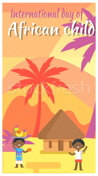 International African Child Day Holiday Placard Stock photo © robuart