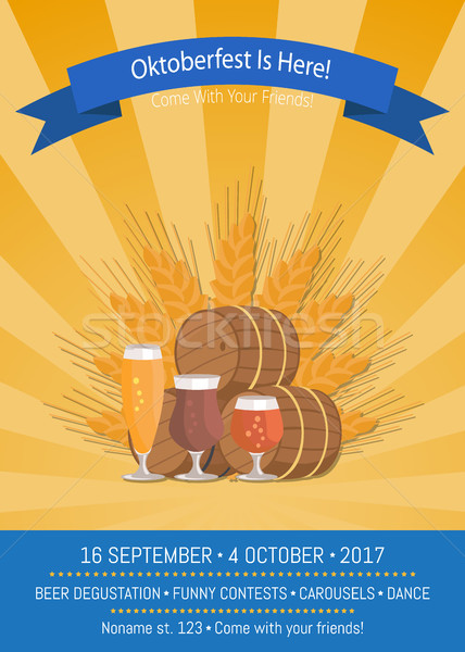Oktoberfest is Here 2017 Vector Illustration Stock photo © robuart