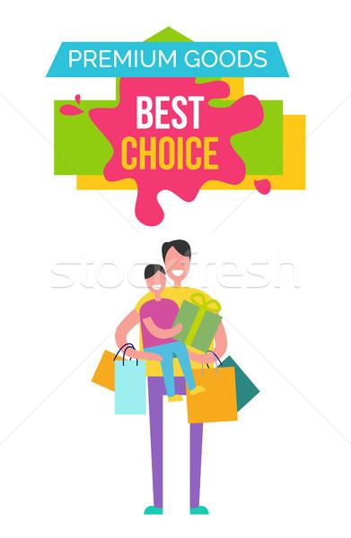 Prémium áru legjobb választás ikonok férfi fiú Stock fotó © robuart