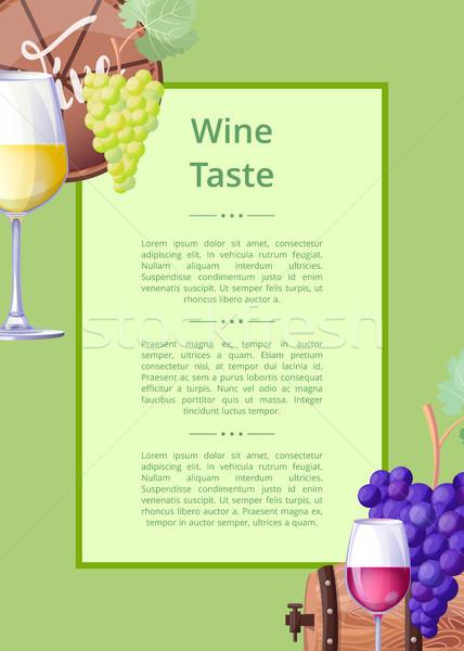 Vino sabor anunciante texto titular Foto stock © robuart
