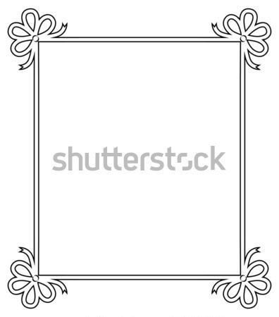 Ornamental Frame with Vintage Decor Bows Elements Stock photo © robuart
