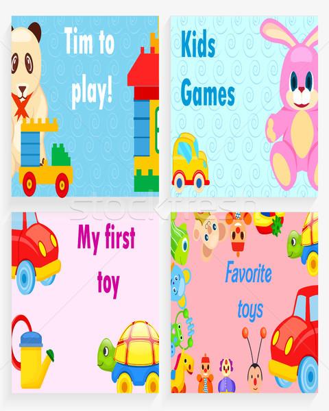 Zaman oynamak çocuklar oyunları benim ilk Stok fotoğraf © robuart