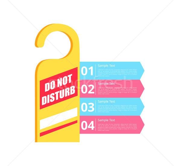 Do Not Disturb Hotel Sign Vector Illustration Stock photo © robuart