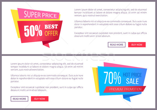 Set Sale Special Offer Order Now Web Poster Vector Stock photo © robuart