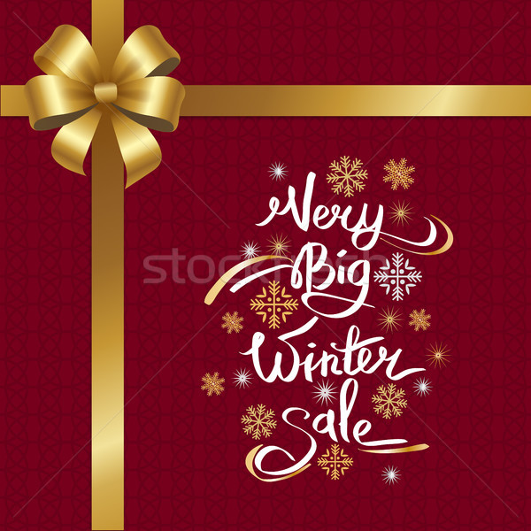 Very Big Winter Sale Inscription on Snowflakes Stock photo © robuart