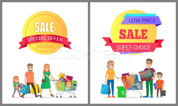Exclusive Sale Special Offer Low Cost Super Family Stock photo © robuart