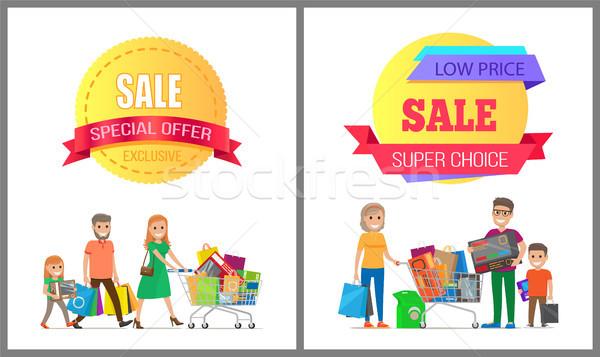 Ekskluzywny sprzedaży oferta specjalna wspaniały rodziny Zdjęcia stock © robuart