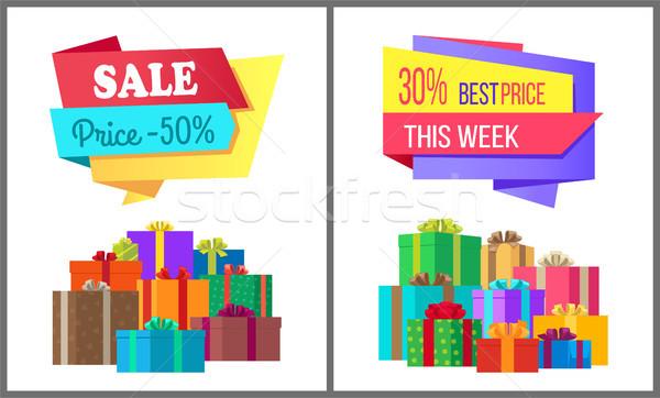 Vente prix 50 meilleur proposer semaine Photo stock © robuart