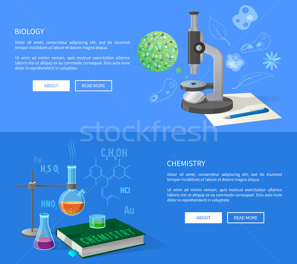 Biology and Chemistry Courses Info Internet Page Stock photo © robuart