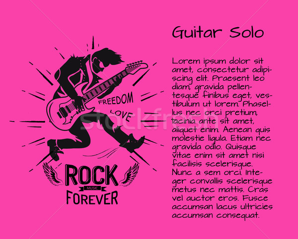 Rock Music Forever Guitar Solo Colorful Poster Stock photo © robuart