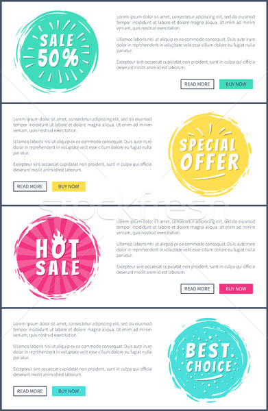 Set of Hot Sale Best Price Advertising Banners Stock photo © robuart