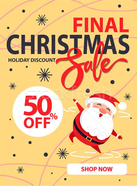 Final natal venda férias desconto cartaz Foto stock © robuart