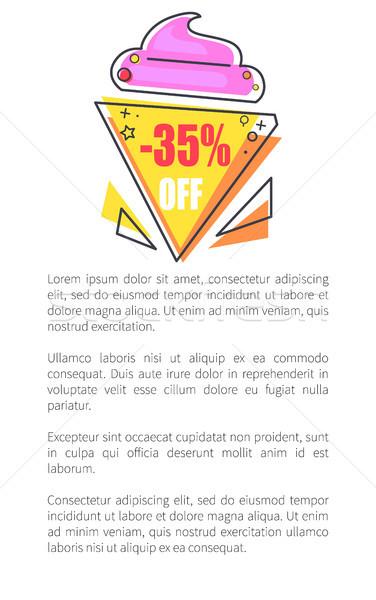 Af label vorm icecream promo sticker Stockfoto © robuart