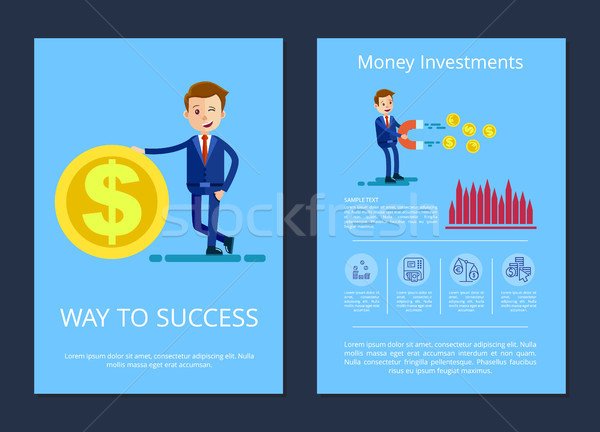 Way to Success and Investment Vector Illustration Stock photo © robuart
