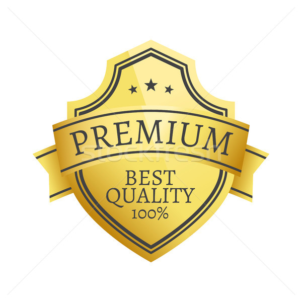 100 prim kalite seçim altın etiket Stok fotoğraf © robuart