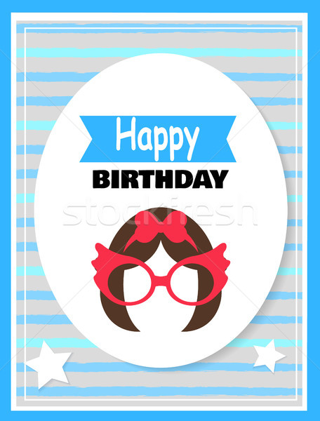Colorful Happy Birthday Card Vector Illustration Stock photo © robuart