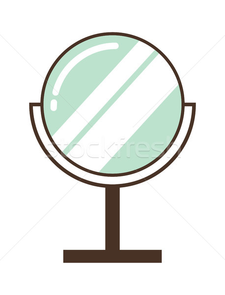 Convenient Round Mirror for Makeup Application Stock photo © robuart
