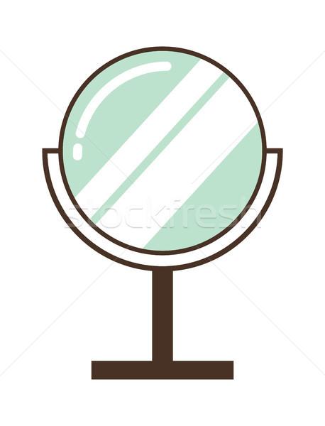 Wygodny lustra makijaż aplikacja błyszczący Zdjęcia stock © robuart