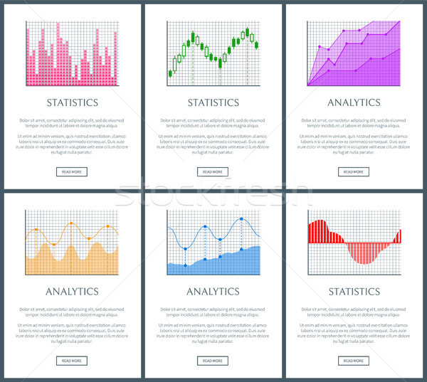 Analítica estadística página colección web Foto stock © robuart
