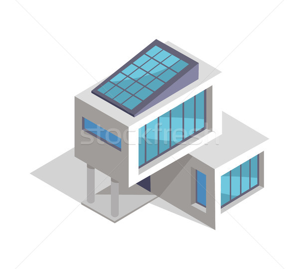 Contemporary House Layout, Vector Illustration Stock photo © robuart